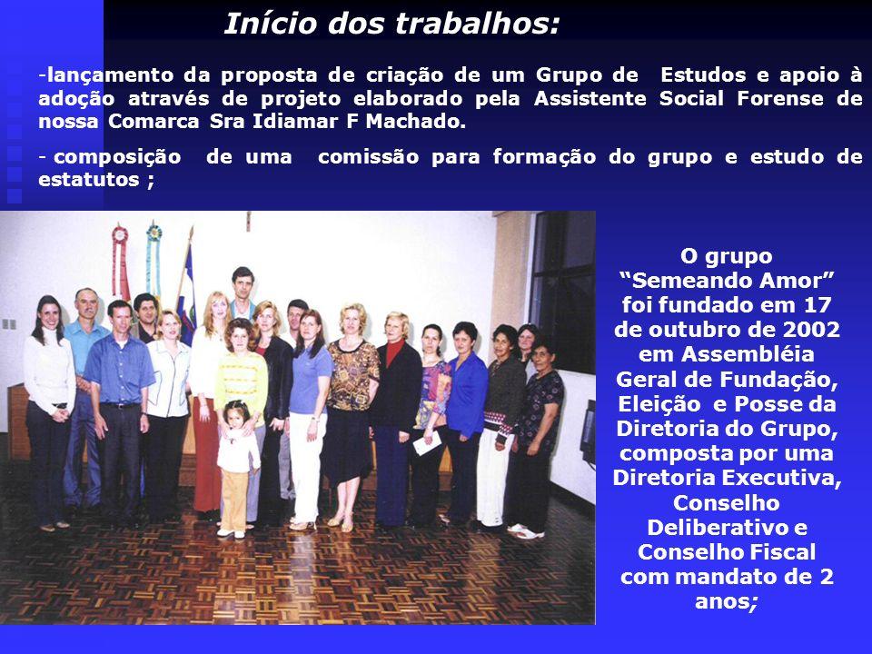 -lançamento da proposta de criação de um Grupo de Estudos e apoio à adoção através de projeto elaborado pela Assistente Social Forense de nossa Comarc