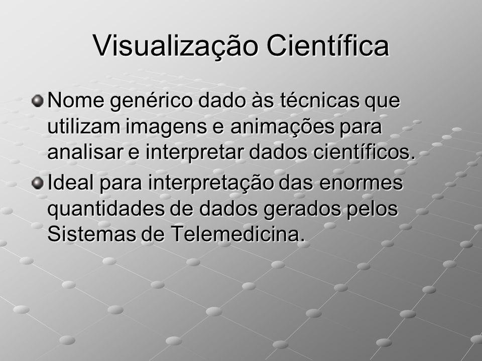Visualização Científica Nome genérico dado às técnicas que utilizam imagens e animações para analisar e interpretar dados científicos. Ideal para inte