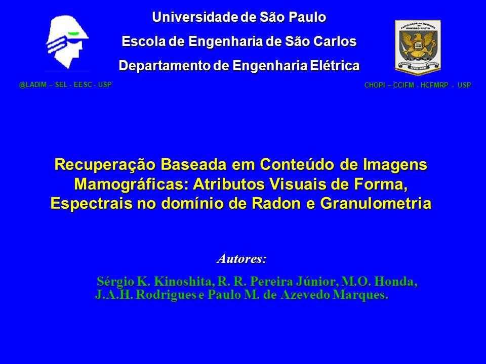 Recuperação Baseada em Conteúdo de Imagens Mamográficas: Atributos Visuais de Forma, Espectrais no domínio de Radon e Granulometria Autores: Sérgio K.