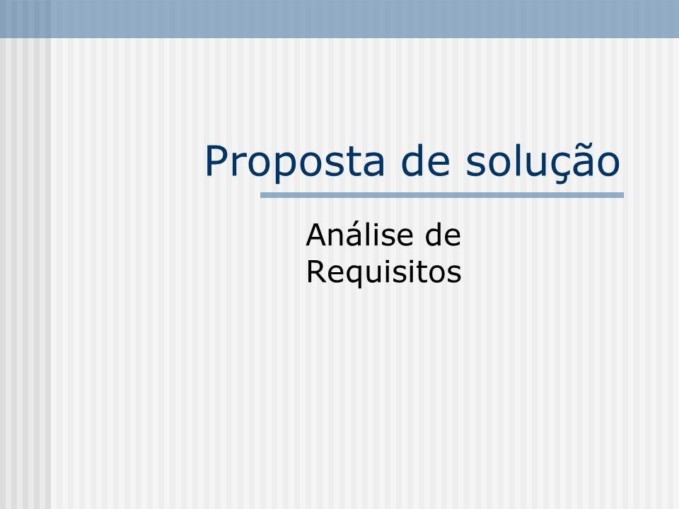 Proposta de solução Análise de Requisitos