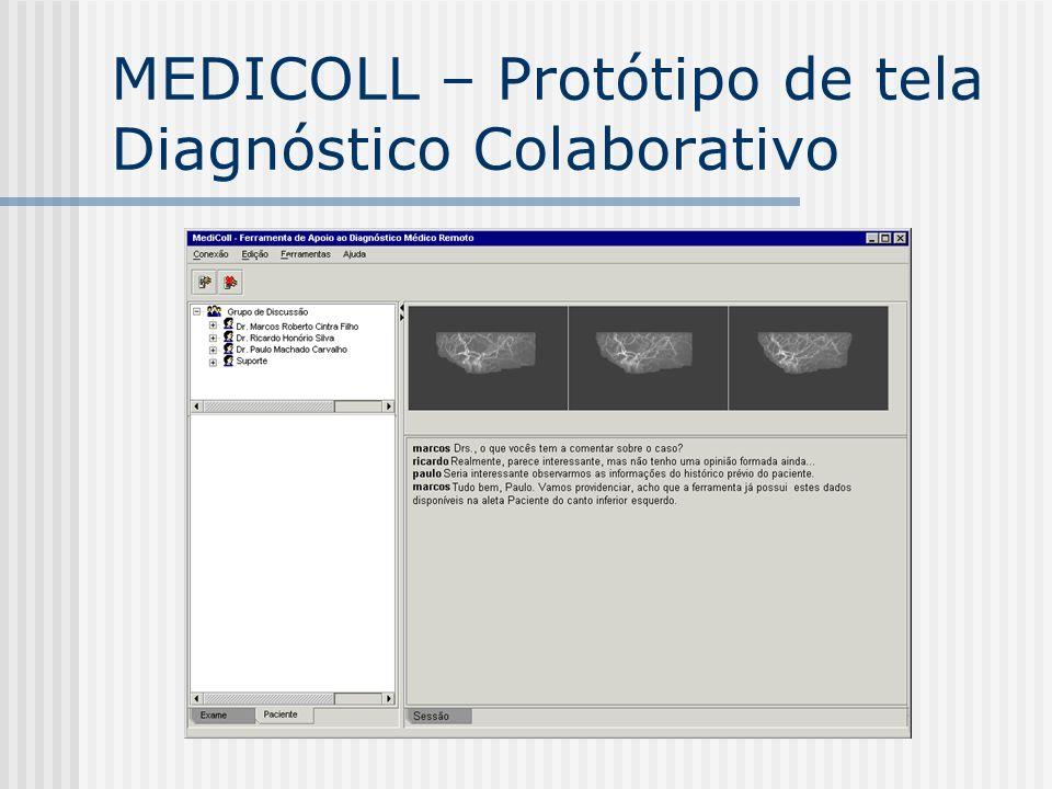 MEDICOLL – Protótipo de tela Diagnóstico Colaborativo