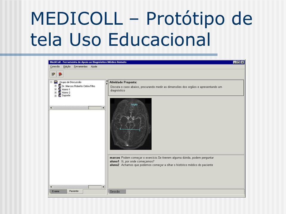 MEDICOLL – Protótipo de tela Uso Educacional