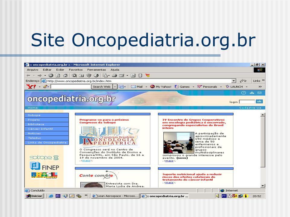 Site Oncopediatria.org.br
