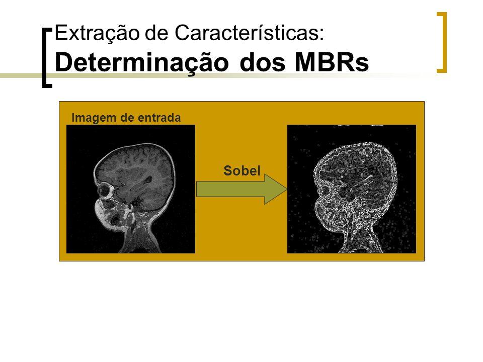 Extração de Características: Determinação dos MBRs Sobel Imagem de entrada