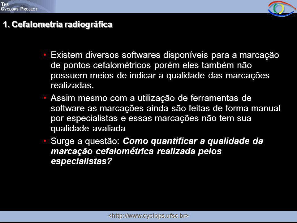 Existem diversos softwares disponíveis para a marcação de pontos cefalométricos porém eles também não possuem meios de indicar a qualidade das marcações realizadas.