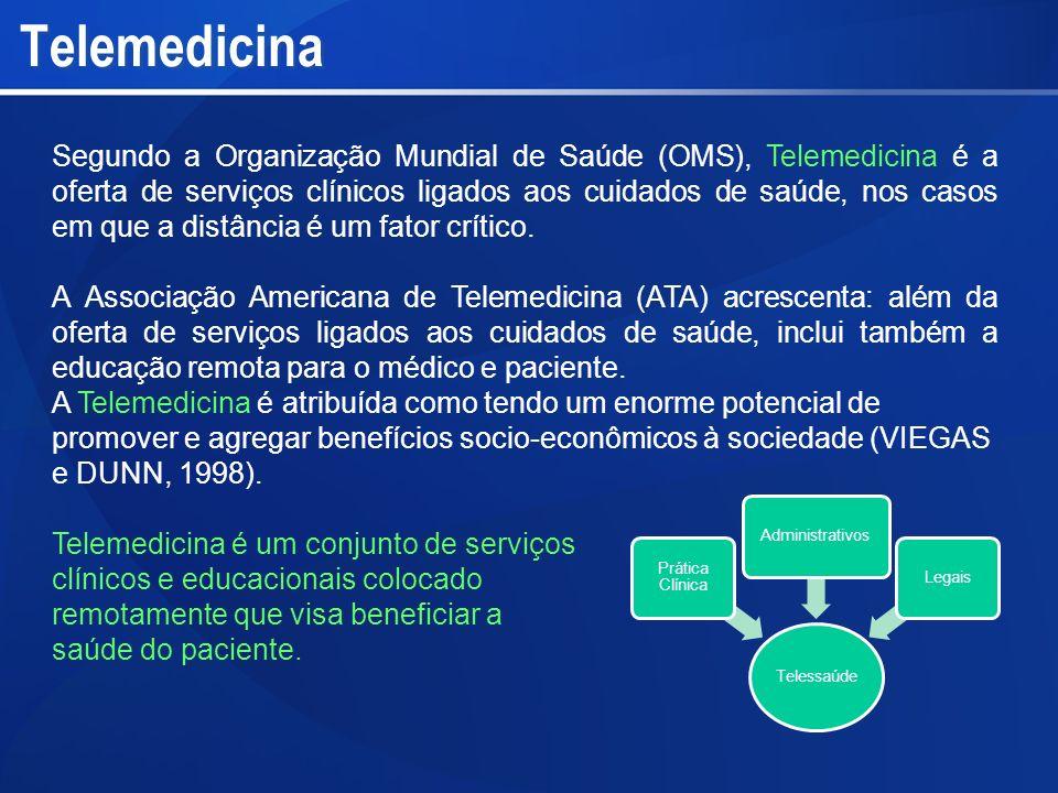 Segundo a Organização Mundial de Saúde (OMS), Telemedicina é a oferta de serviços clínicos ligados aos cuidados de saúde, nos casos em que a distância