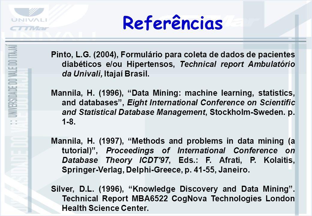 Referências Pinto, L.G.