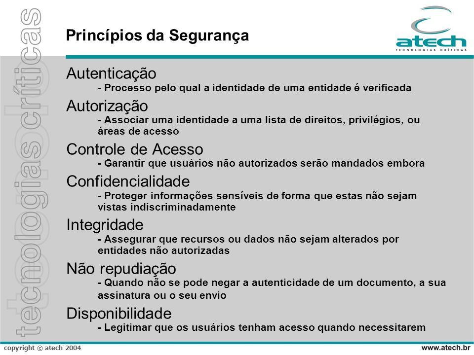 copyright © atech 2004 SBIS-CFM Fica instituída a Infra-Estrutura de Chaves Públicas Brasileira – ICP-Brasil, para garantir a autenticidade, a integridade e a validade jurídica de documentos em forma eletrônica, das aplicações de suporte e das aplicações habilitadas que utilizem certificados digitais, bem como a realização de transações eletrônicas seguras.