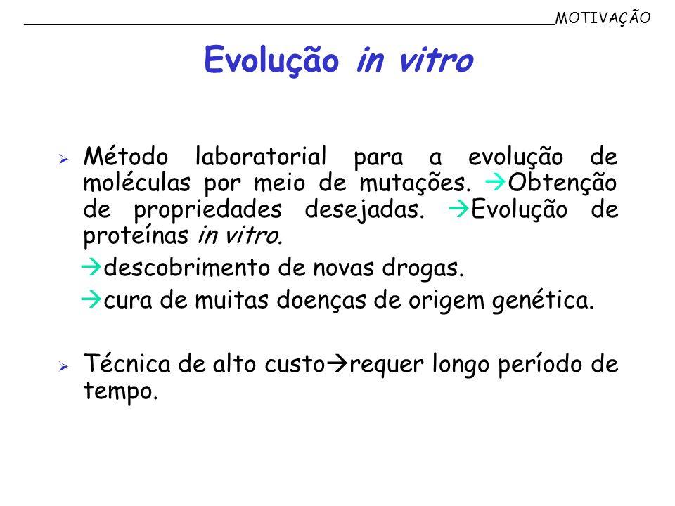 Método laboratorial para a evolução de moléculas por meio de mutações. Obtenção de propriedades desejadas. Evolução de proteínas in vitro. descobrimen