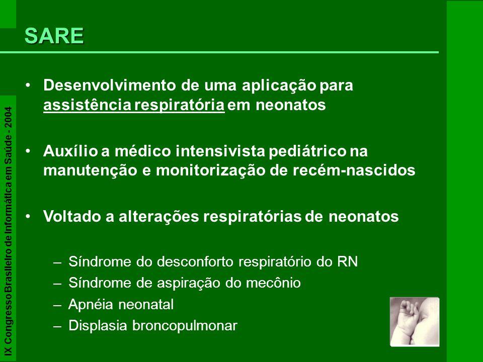 Desenvolvimento de uma aplicação para assistência respiratória em neonatos assistência respiratória Auxílio a médico intensivista pediátrico na manute