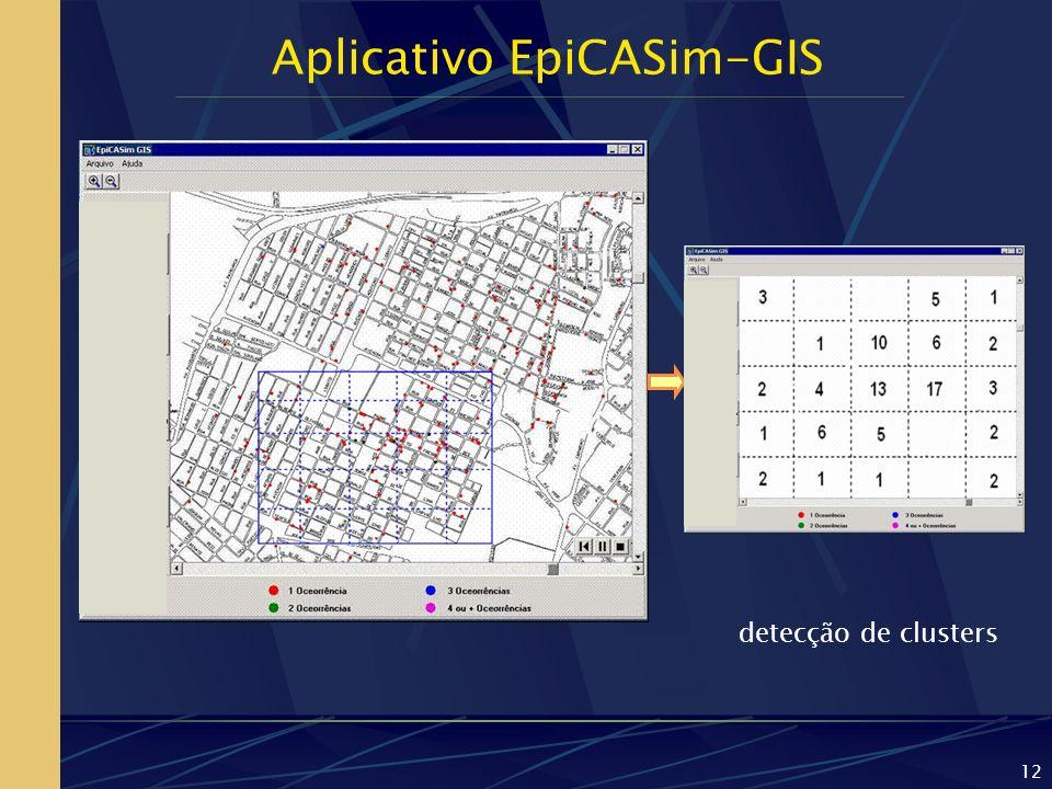 12 Aplicativo EpiCASim-GIS detecção de clusters