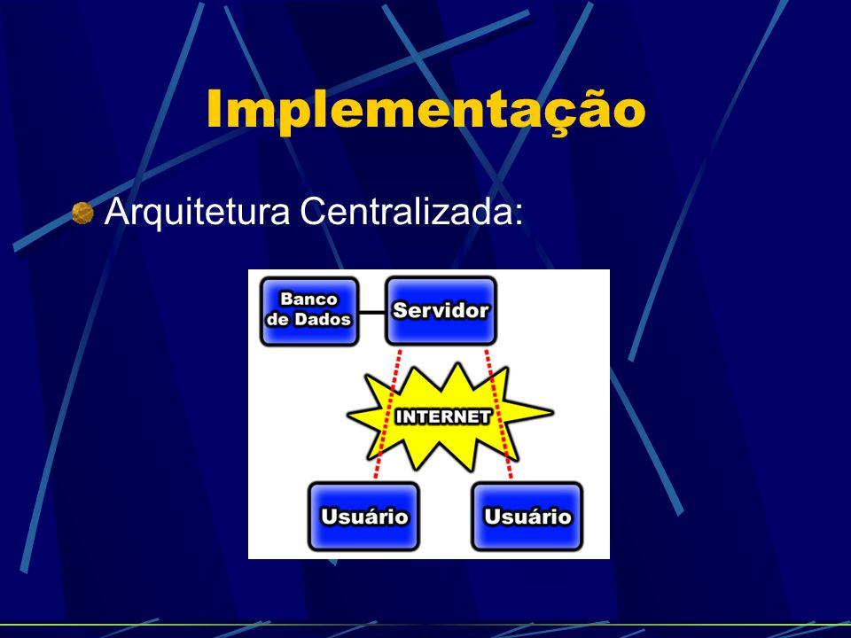 Implementação - Protocolo Seção: Abstração lógica para diferenciar várias reuniões Assim pode permitir a existência de múltiplas reuniões Foram criadas duas classes de controle: CCA: Classe de Controle de Acesso; CCS: Classe de Controle de Seções.