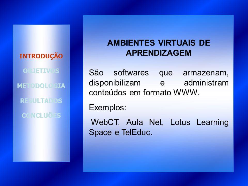 AMBIENTES APRENDIZAGEM TelEduc é um ambiente para criação, desenvolvimento e administração de cursos na web.