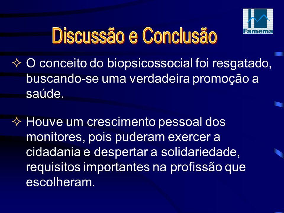O conceito do biopsicossocial foi resgatado, buscando-se uma verdadeira promoção a saúde.