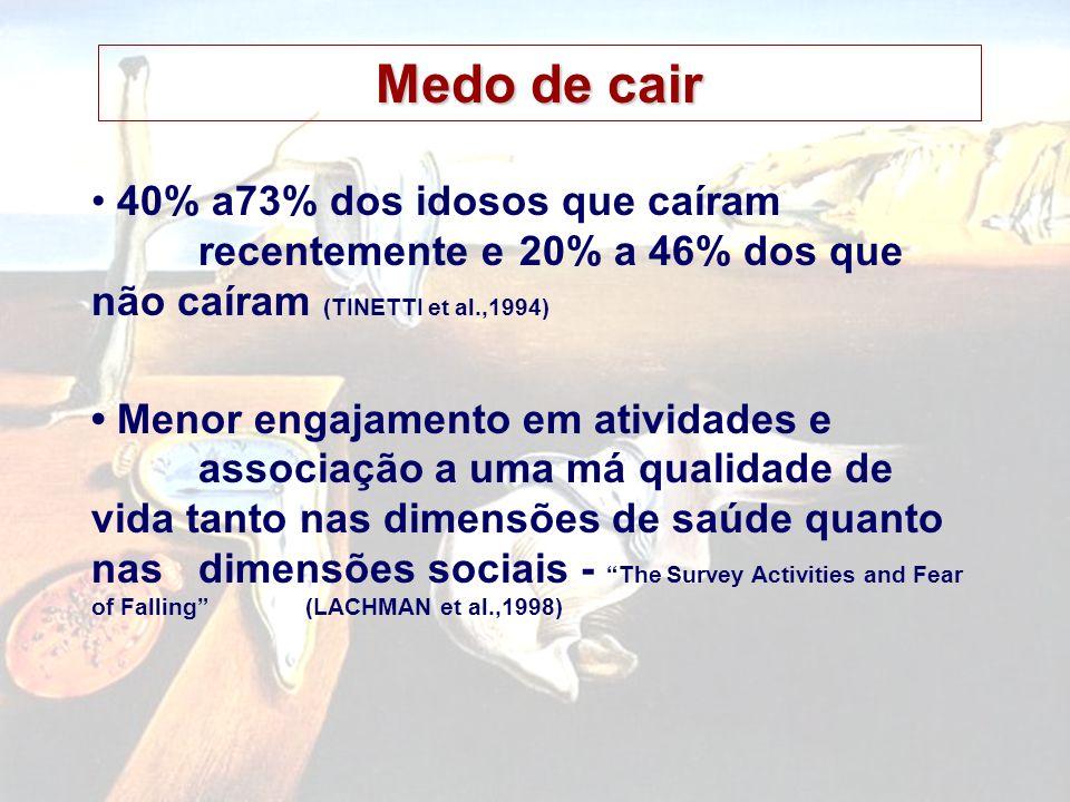 PREVENÇÃO DE QUEDAS Melhora da visão funcional: IVERS et al.