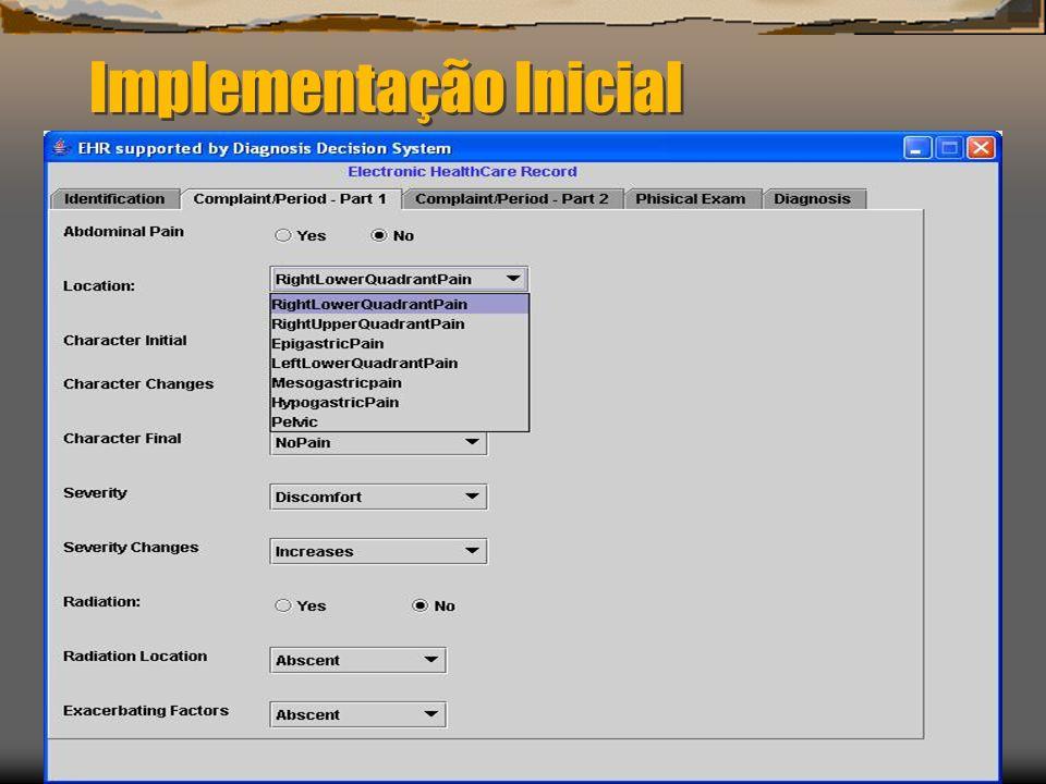 Implementação Inicial