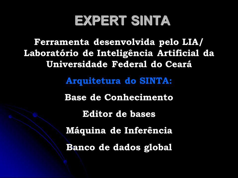 EXPERT SINTA Ferramenta desenvolvida pelo LIA/ Laboratório de Inteligência Artificial da Universidade Federal do Ceará Arquitetura do SINTA: Base de C