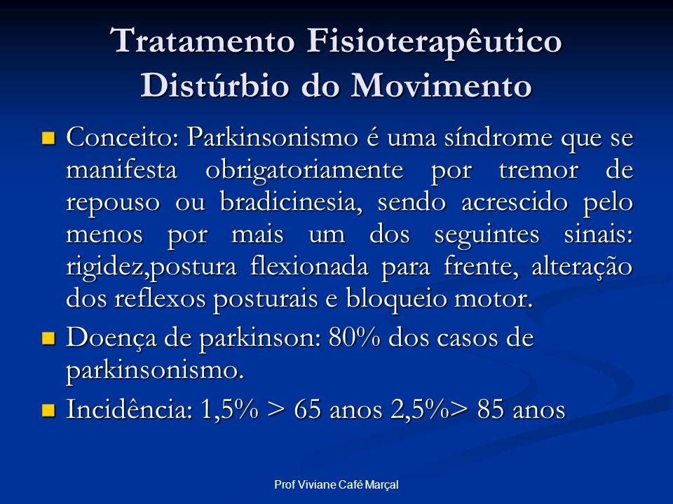 Prof Viviane Café Marçal Tratamento Fisioterapêutico Distúrbio do Movimento Conceito: Parkinsonismo é uma síndrome que se manifesta obrigatoriamente p