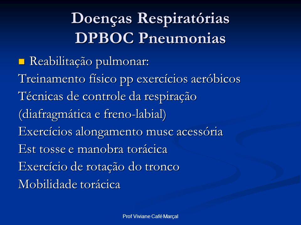 Prof Viviane Café Marçal Doenças Respiratórias DPBOC Pneumonias Reabilitação pulmonar: Reabilitação pulmonar: Treinamento físico pp exercícios aeróbic
