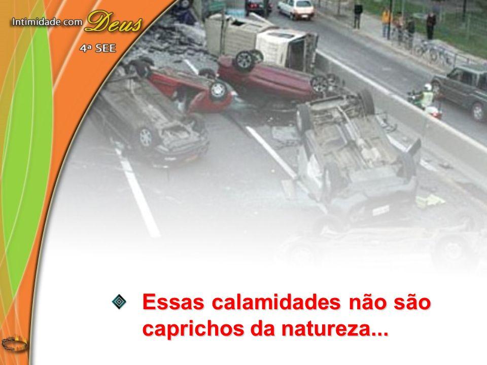 Essas calamidades não são caprichos da natureza...