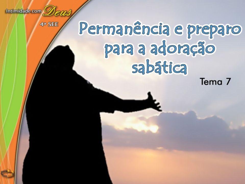 Orientações proféticas para a sexta-feira da preparação...