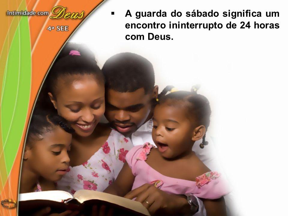 Vivendo cada dia com Deus, a cada sábado teremos um encontro cada vez mais íntimo com o Pai...