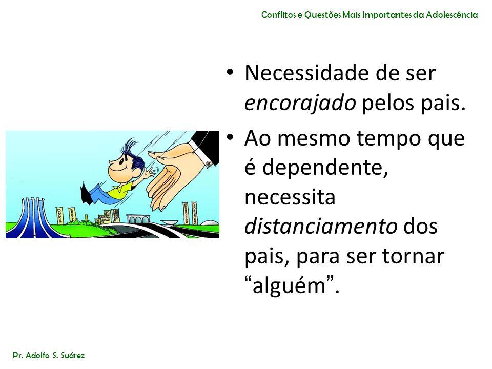 Pr. Adolfo S. Suárez Conflitos e Questões Mais Importantes da Adolescência