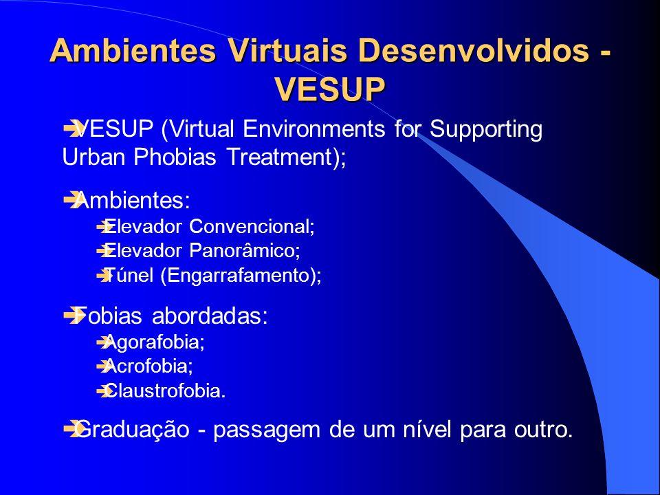 Ambientes Virtuais Desenvolvidos - VESUP VESUP (Virtual Environments for Supporting Urban Phobias Treatment); Ambientes: Elevador Convencional; Elevad