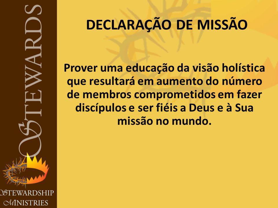 Prover uma educação da visão holística que resultará em aumento do número de membros comprometidos em fazer discípulos e ser fiéis a Deus e à Sua missão no mundo.