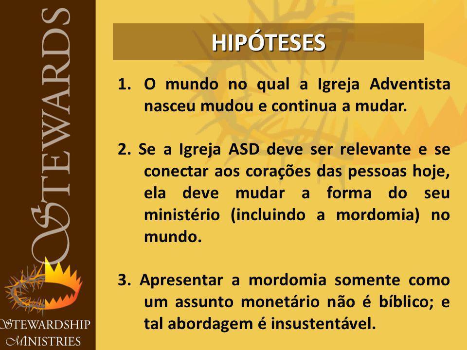 1.O mundo no qual a Igreja Adventista nasceu mudou e continua a mudar.