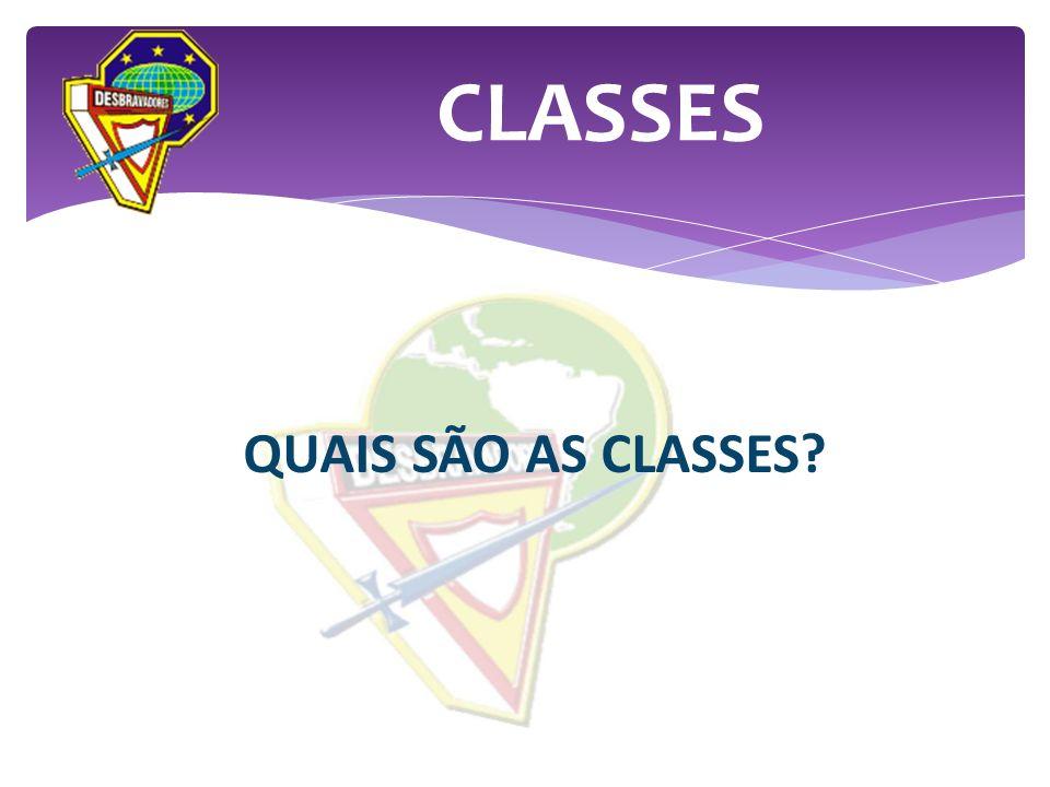 QUAIS SÃO AS CLASSES? CLASSES