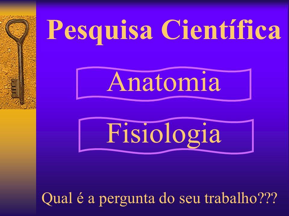 Pesquisa Científica Anatomia Fisiologia Qual é a pergunta do seu trabalho???