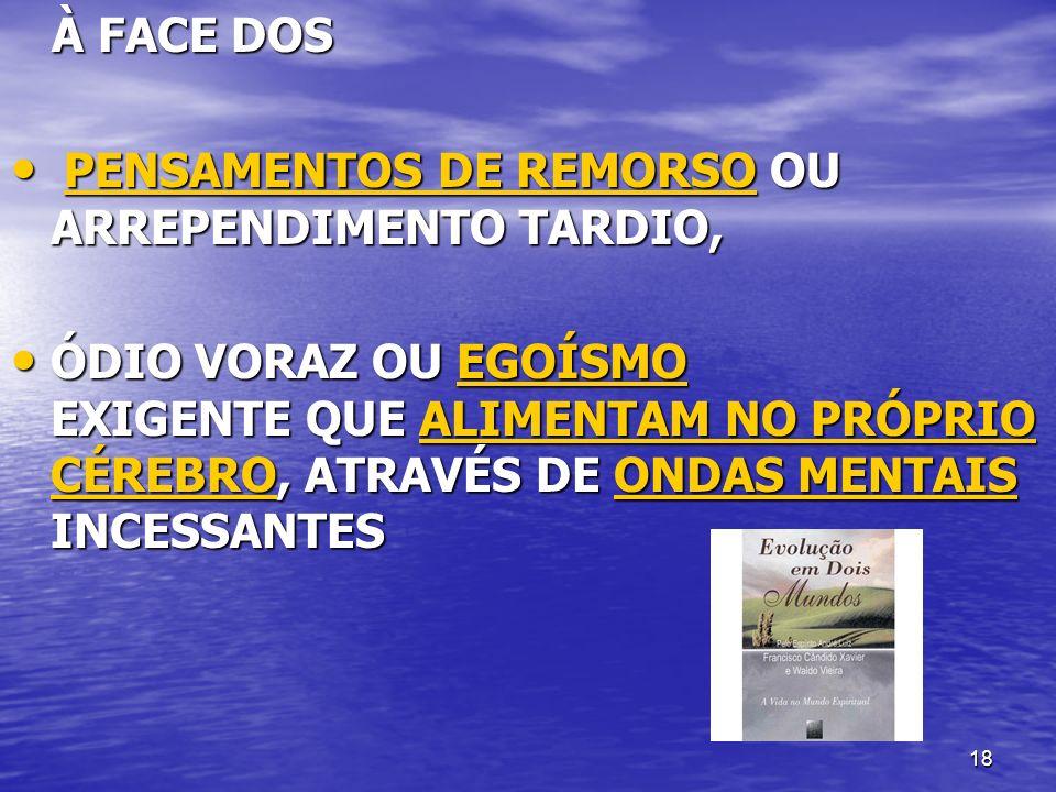18 À FACE DOS À FACE DOS PENSAMENTOS DE REMORSO OU ARREPENDIMENTO TARDIO, PENSAMENTOS DE REMORSO OU ARREPENDIMENTO TARDIO, PENSAMENTOS DE REMORSOPENSA