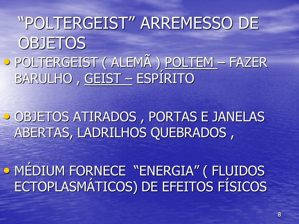 8 POLTERGEIST ARREMESSO DE OBJETOS POLTERGEIST ( ALEMÃ ) POLTEM – FAZER BARULHO, GEIST – ESPÍRITO POLTERGEIST ( ALEMÃ ) POLTEM – FAZER BARULHO, GEIST