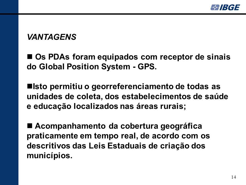 15 PARCERIAS O IBGE realiza consultas a comunidades de especialistas e outros grandes usuários diretos das informações censitárias, a fim de que as estatísticas acompanhem as demandas reais.
