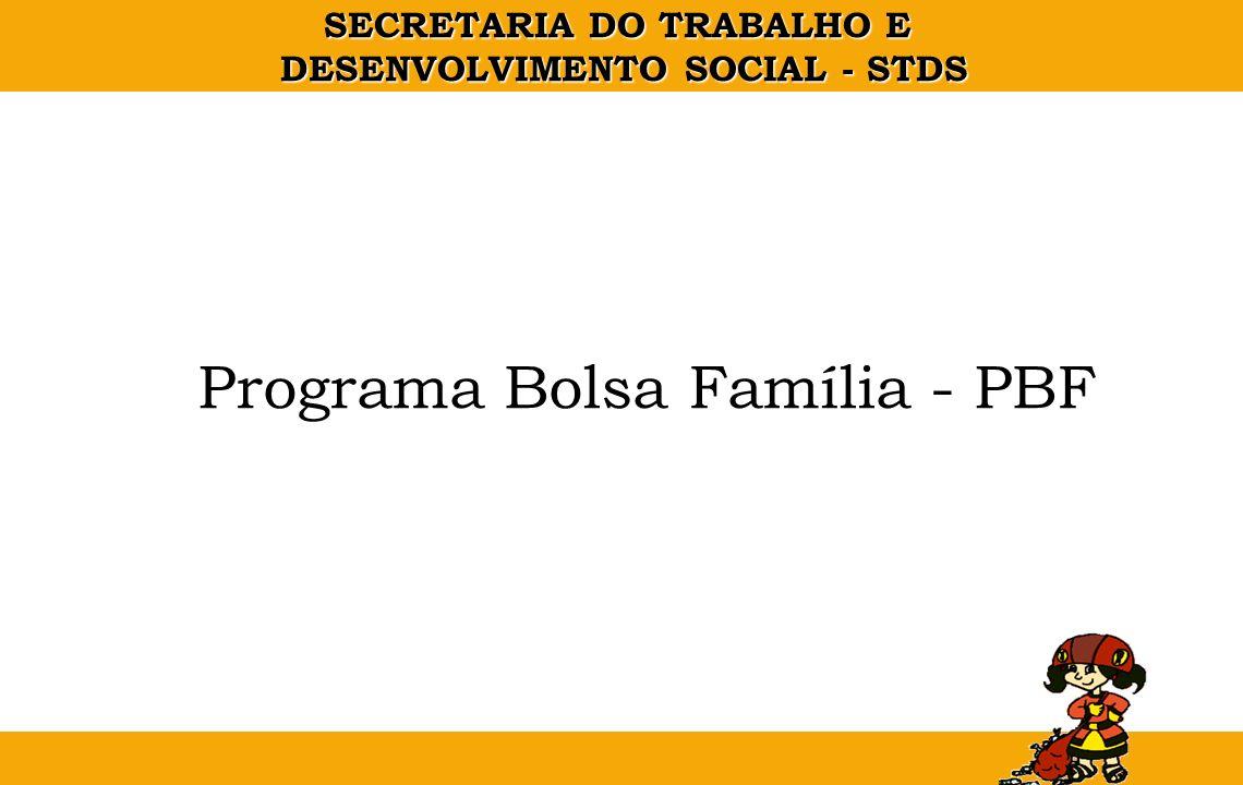 SECRETARIA DO TRABALHO E DESENVOLVIMENTO SOCIAL - STDS PROGRAMA BOLSA FAMILIA - LEGISLAÇÃO Medida Provisória N.