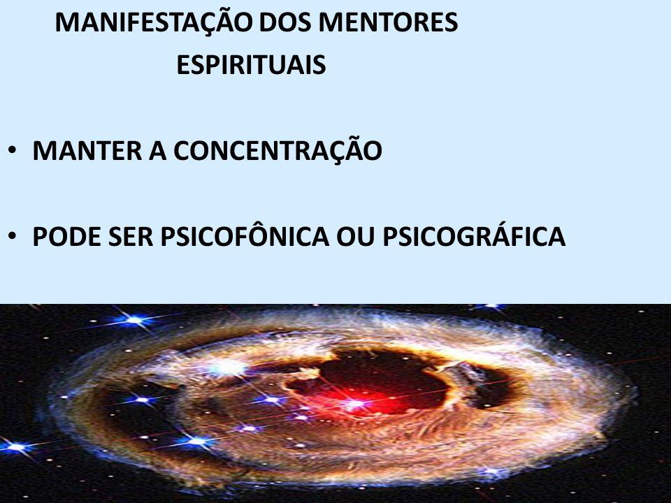 51 MANIFESTAÇÃO DOS MENTORES ESPIRITUAIS MANTER A CONCENTRAÇÃO PODE SER PSICOFÔNICA OU PSICOGRÁFICA