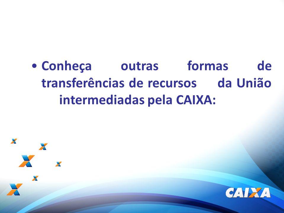 17 Conheça outras formas de transferências de recursos da União intermediadas pela CAIXA: