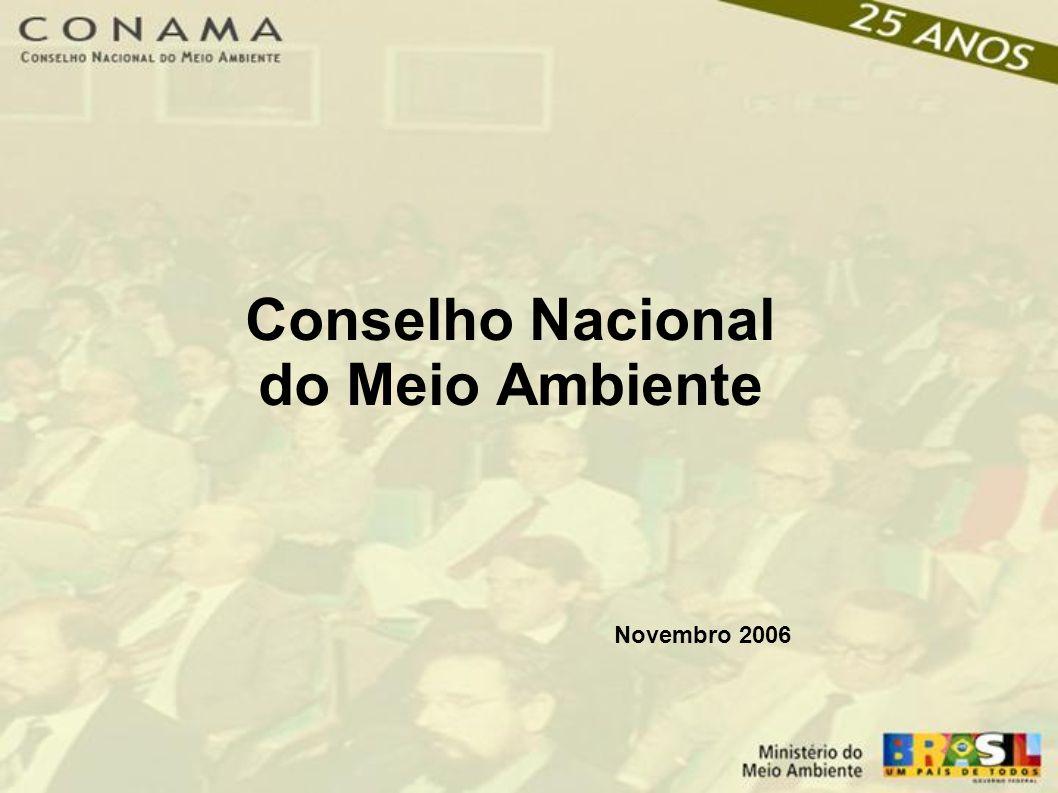 Conselho Nacional do Meio Ambiente Novembro 2006
