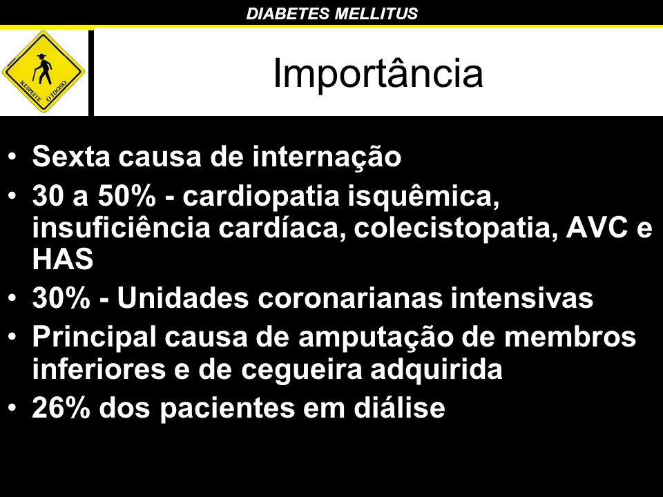 DIABETES MELLITUS Classificação