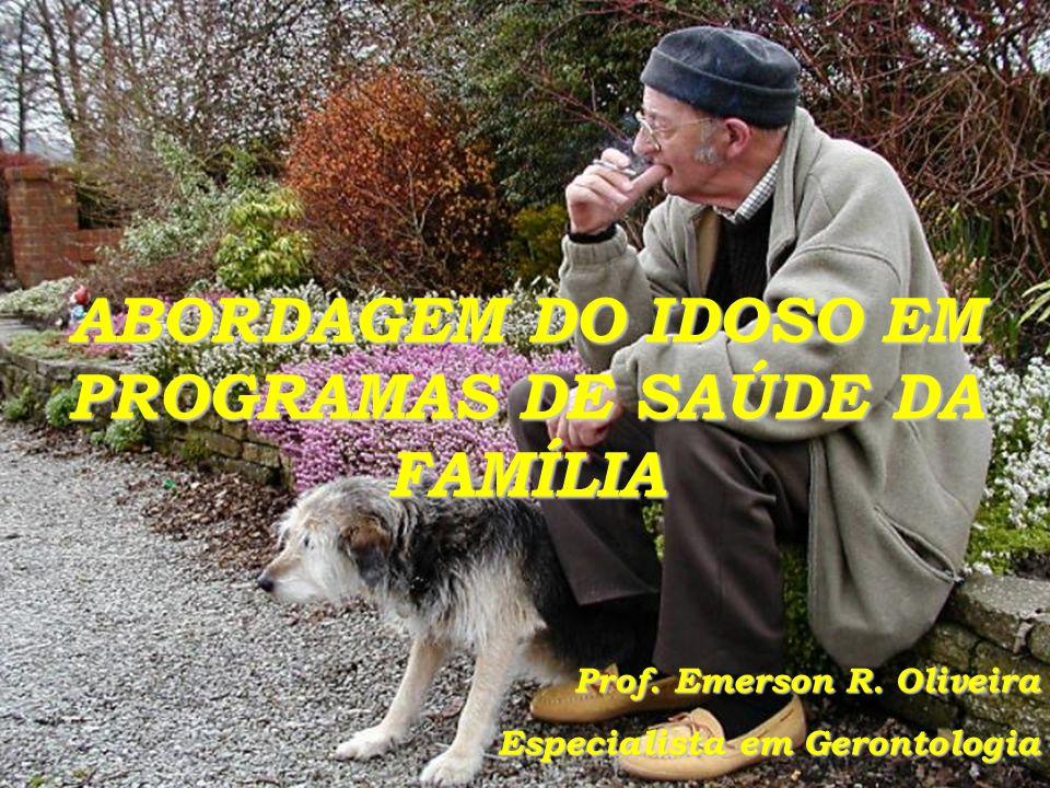 ABORDAGEM DO IDOSO EM PROGRAMAS DE SAÚDE DA FAMÍLIA Prof.