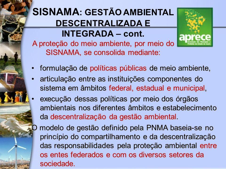 formulação de políticas públicas de meio ambiente,formulação de políticas públicas de meio ambiente, articulação entre as instituições componentes do