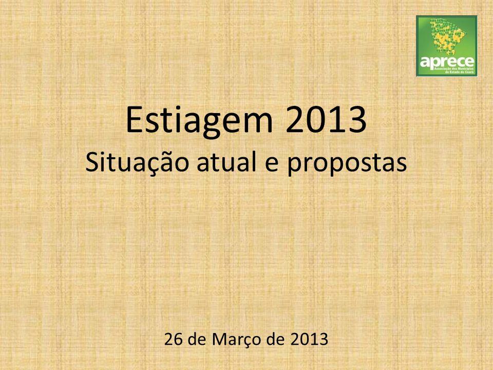 Estiagem 2013 Situação atual e propostas 26 de Março de 2013