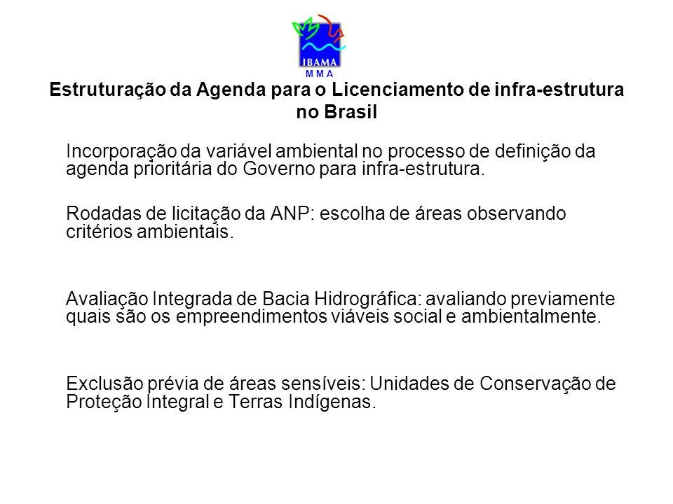 M M A Estruturação da Agenda para o Licenciamento de infra-estrutura no Brasil Incorporação da variável ambiental no processo de definição da agenda p