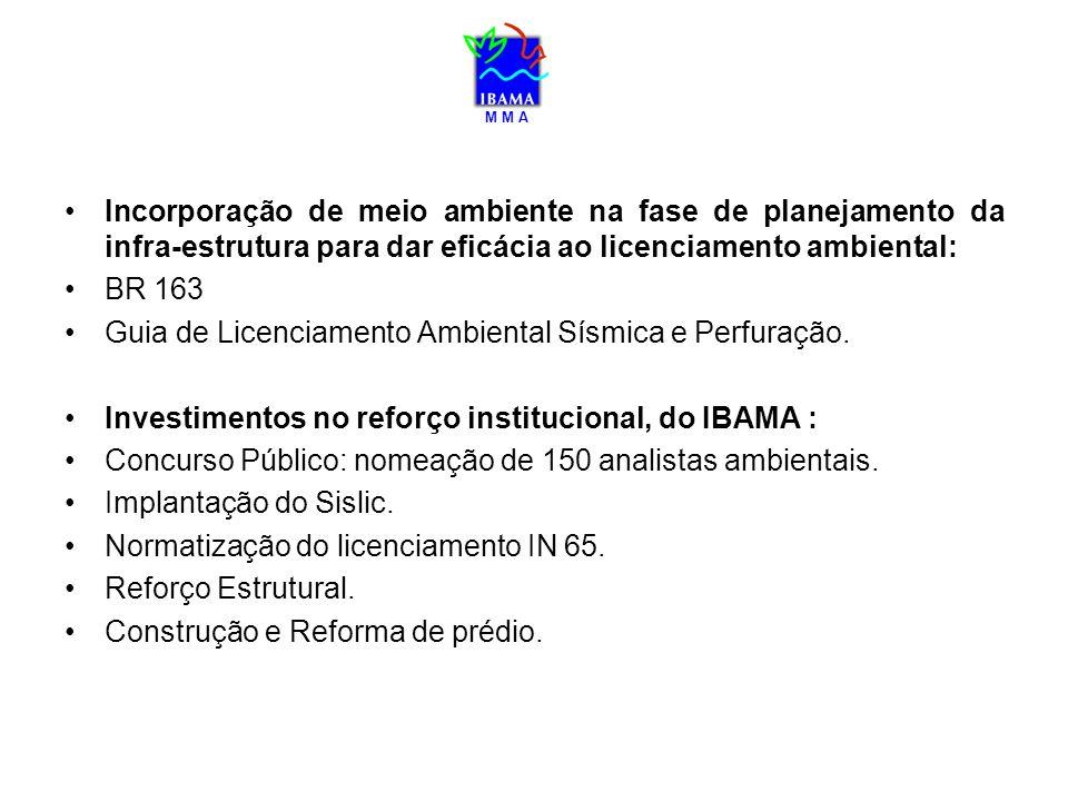 M M A Incorporação de meio ambiente na fase de planejamento da infra-estrutura para dar eficácia ao licenciamento ambiental: BR 163 Guia de Licenciame