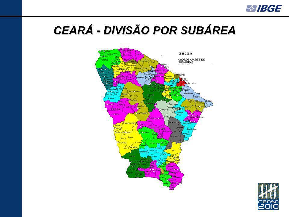 CEARÁ - DIVISÃO POR SUBÁREA