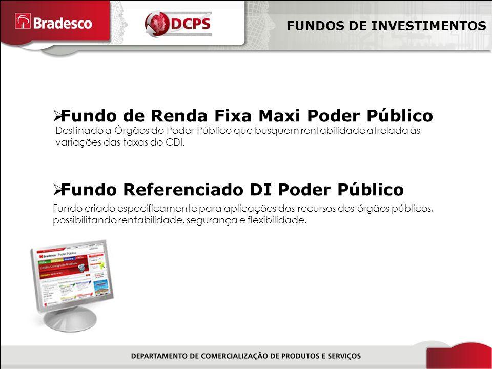 10/18 Fundo de Renda Fixa Maxi Poder Público Fundo Referenciado DI Poder Público FUNDOS DE INVESTIMENTOS Fundo criado especificamente para aplicações