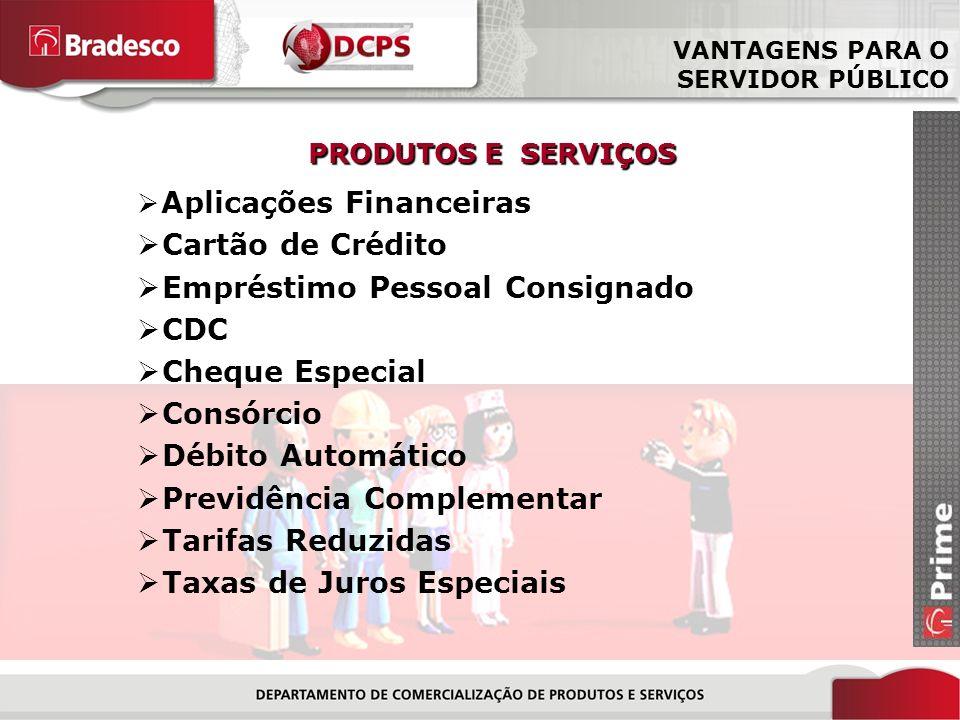 12/18 Aplicações Financeiras Cartão de Crédito Empréstimo Pessoal Consignado CDC Cheque Especial Consórcio Débito Automático Previdência Complementar