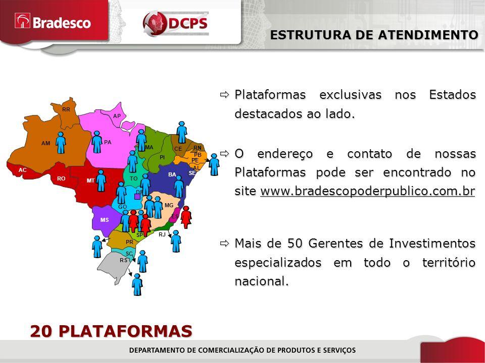 3/18 Plataformas exclusivas nos Estados destacados ao lado.