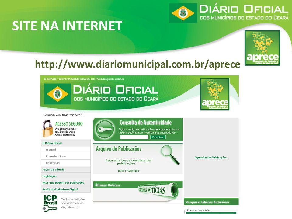 http://www.diariomunicipal.com.br/aprece SITE NA INTERNET